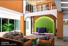 温馨200平欧式复式客厅设计案例客厅欧式豪华设计图片赏析