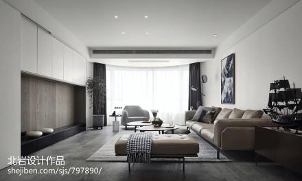质朴91平简约四居客厅装潢图四居及以上现代简约家装装修案例效果图