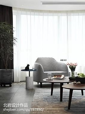 悠雅96平简约四居客厅装修图片四居及以上现代简约家装装修案例效果图