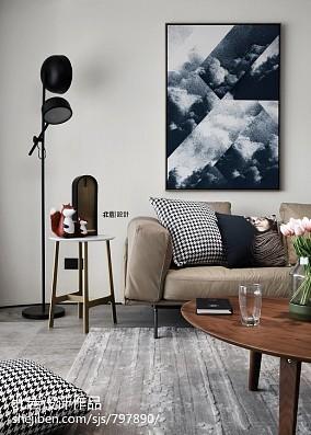 简洁120平简约四居客厅设计美图四居及以上现代简约家装装修案例效果图