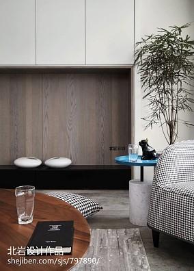 轻奢158平简约四居客厅设计案例四居及以上现代简约家装装修案例效果图