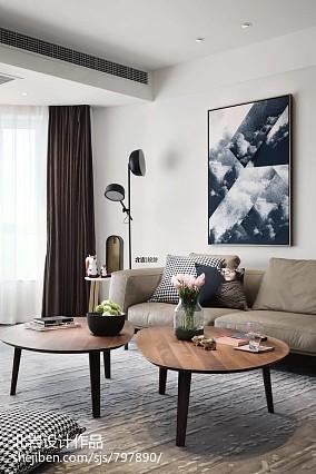 平简约四居客厅美图四居及以上现代简约家装装修案例效果图
