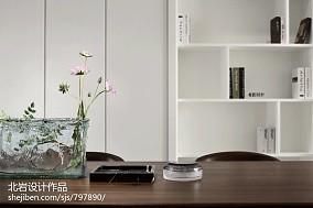 大气101平简约四居书房图片大全四居及以上现代简约家装装修案例效果图