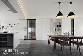 明亮132平简约四居餐厅装修图片四居及以上现代简约家装装修案例效果图