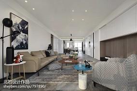 优美159平简约四居客厅图片大全四居及以上现代简约家装装修案例效果图