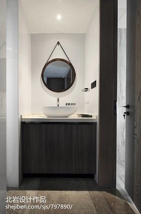 优雅144平简约四居卫生间装修案例四居及以上现代简约家装装修案例效果图