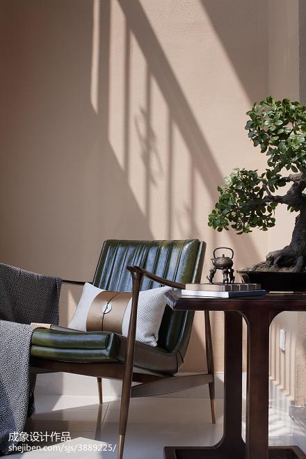 温馨274平中式样板间休闲区实景图片样板间中式现代家装装修案例效果图