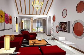 精美108平方三居客厅简约装修图片