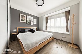 90m²北欧卧室设计图三居北欧极简家装装修案例效果图