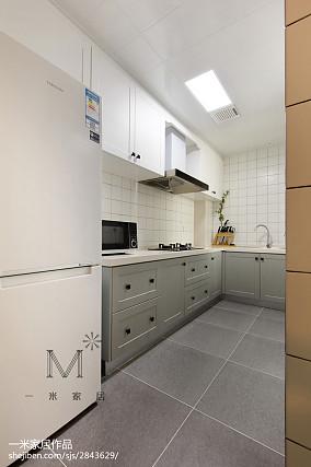 2018北欧三居厨房装修设计效果图片大全三居北欧极简家装装修案例效果图