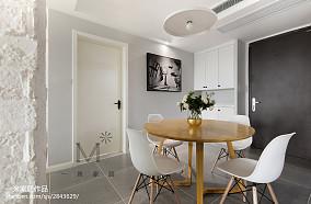 精选面积92平北欧三居餐厅装修图片欣赏三居北欧极简家装装修案例效果图