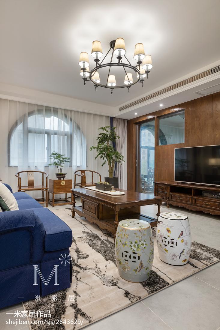 精美大小117平混搭四居客厅装修实景图片客厅