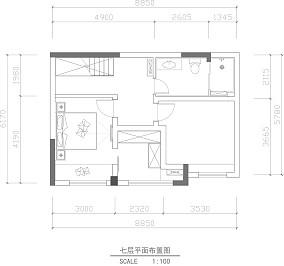 日式三居卧室装修欣赏图