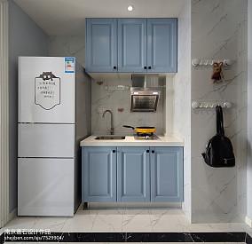 2018面积84平小户型厨房美式装修效果图