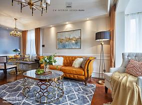 精美94平方三居客厅美式实景图片欣赏