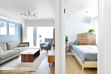 精美二居客厅日式装修欣赏图片