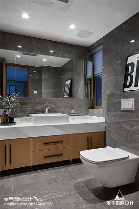 现代风复式卫浴设计图卫生间现代简约设计图片赏析