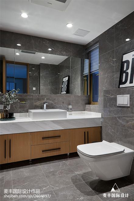 现代风复式卫浴设计图卫生间