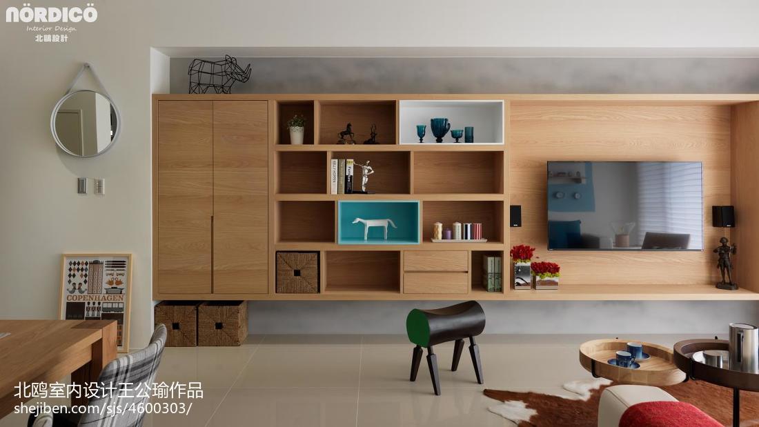 热门101平米三居客厅北欧设计效果图功能区