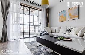 平米二居客厅北欧实景图片欣赏二居北欧极简家装装修案例效果图
