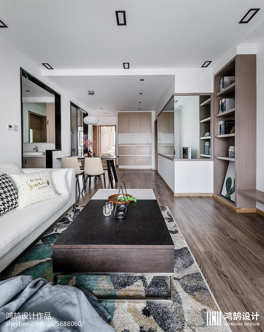 面积78平北欧二居客厅装修设计效果图客厅北欧极简客厅设计图片赏析