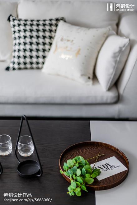 精选面积82平北欧二居客厅装修效果图片欣赏