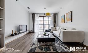 2018面积73平北欧二居客厅装修实景图片二居北欧极简家装装修案例效果图