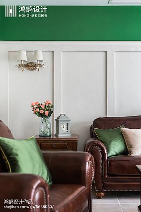 热门103平米三居客厅美式欣赏图片家装装修案例效果图