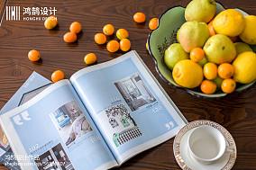 面积102平美式三居客厅装修设计效果图片欣赏