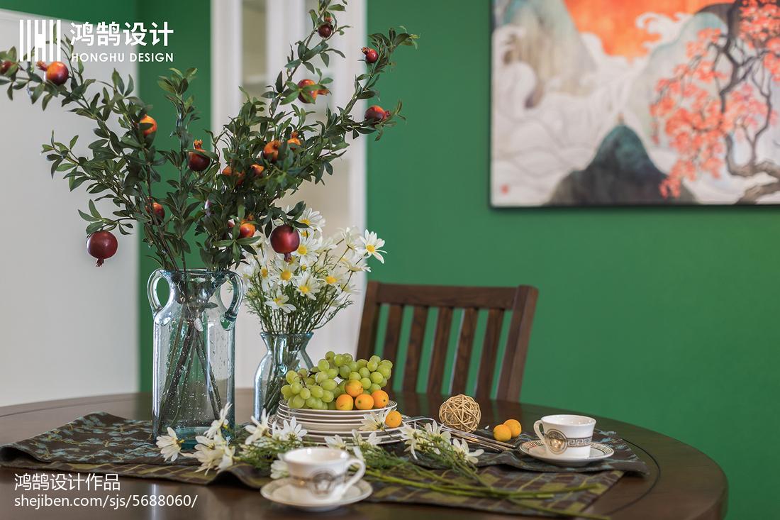 平米三居餐厅美式效果图片厨房美式经典餐厅设计图片赏析