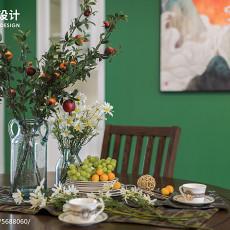 2018101平米三居餐厅美式效果图片