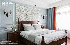 精美面积106平美式三居卧室装修设计效果图片三居美式经典家装装修案例效果图