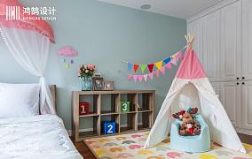 105平米三居儿童房美式实景图片大全三居美式经典家装装修案例效果图