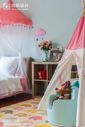 精选面积94平美式三居儿童房实景图片大全