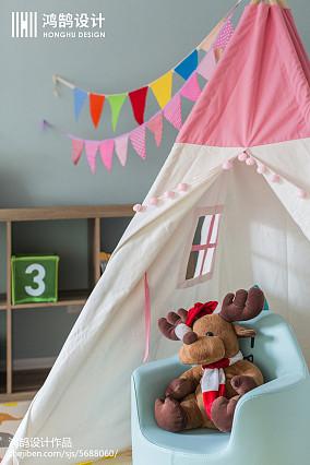 面积104平美式三居儿童房装修图片家装装修案例效果图