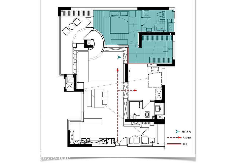 质朴117平混搭三居装修设计图功能区潮流混搭功能区设计图片赏析
