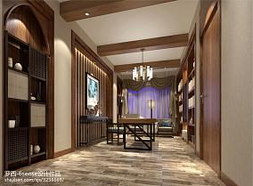 精选面积144平别墅书房东南亚装修图片大全