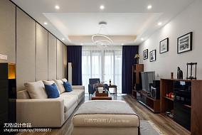 热门大小93平现代三居客厅装饰图