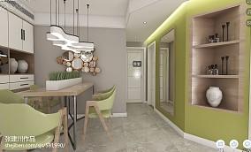 精选面积107平北欧三居餐厅装饰图片
