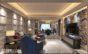 热门118平米四居客厅欧式装修设计效果图片欣赏