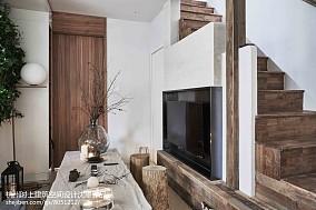 2018精选简约复式客厅装修设计效果图片欣赏