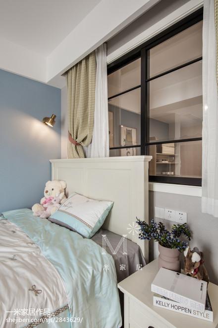精美面积109平美式三居儿童房装修欣赏图片