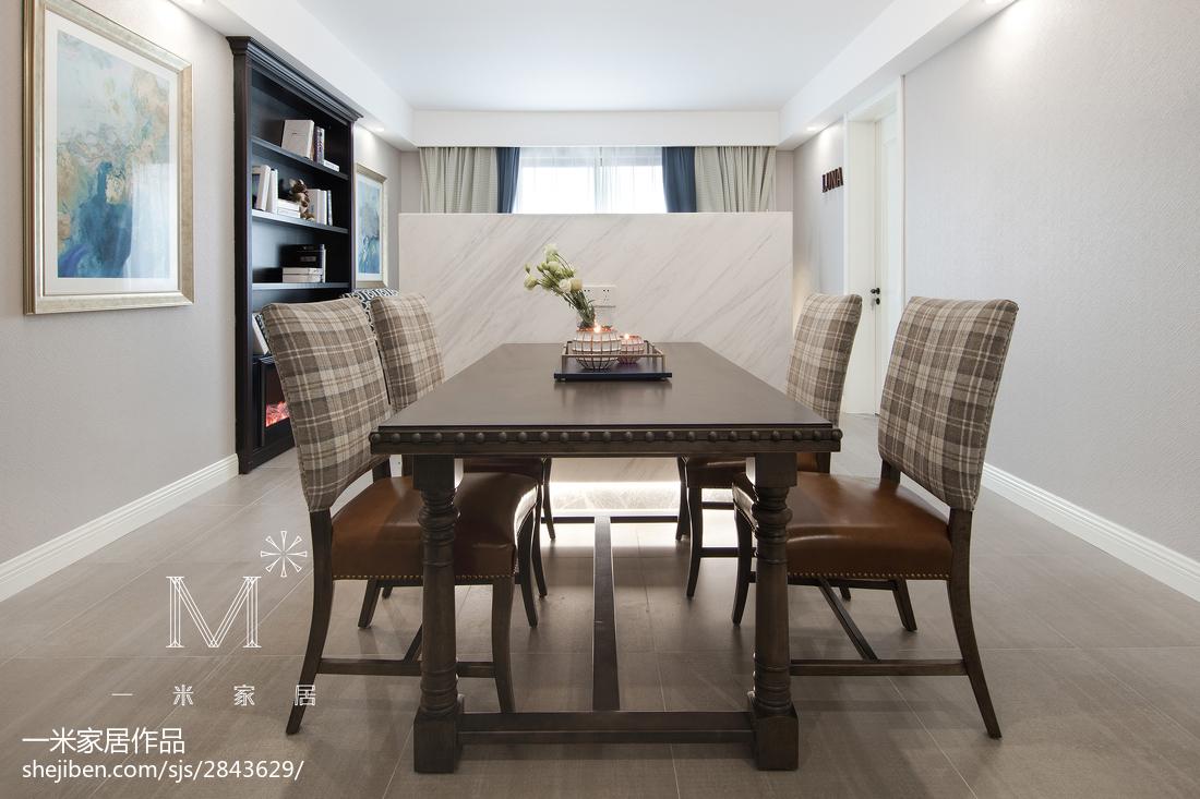 2018大小92平美式三居餐厅装饰图片欣赏厨房美式经典餐厅设计图片赏析