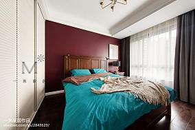 热门面积98平美式三居卧室装修实景图三居美式经典家装装修案例效果图