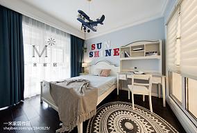 平美式三居儿童房图片大全三居美式经典家装装修案例效果图
