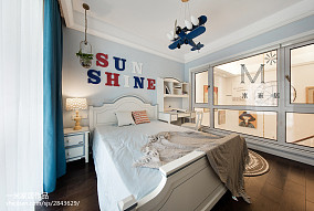 精选101平米三居儿童房美式装修设计效果图片三居美式经典家装装修案例效果图