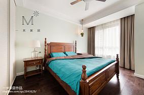 面积91平美式三居卧室装修效果图片大全三居美式经典家装装修案例效果图