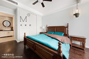 精美大小106平美式三居卧室效果图片三居美式经典家装装修案例效果图