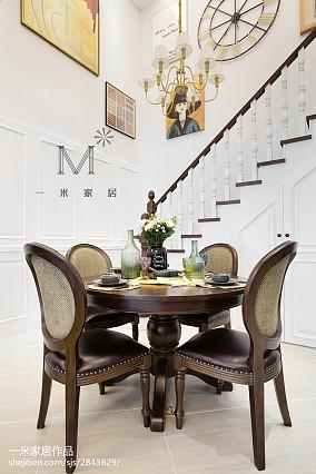 精美面积99平美式三居餐厅欣赏图片大全三居美式经典家装装修案例效果图