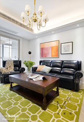 2018精选96平米三居客厅美式欣赏图片大全三居美式经典家装装修案例效果图